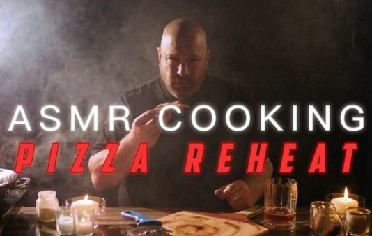 ASMR cooking with Kevin James: reheated pizza
